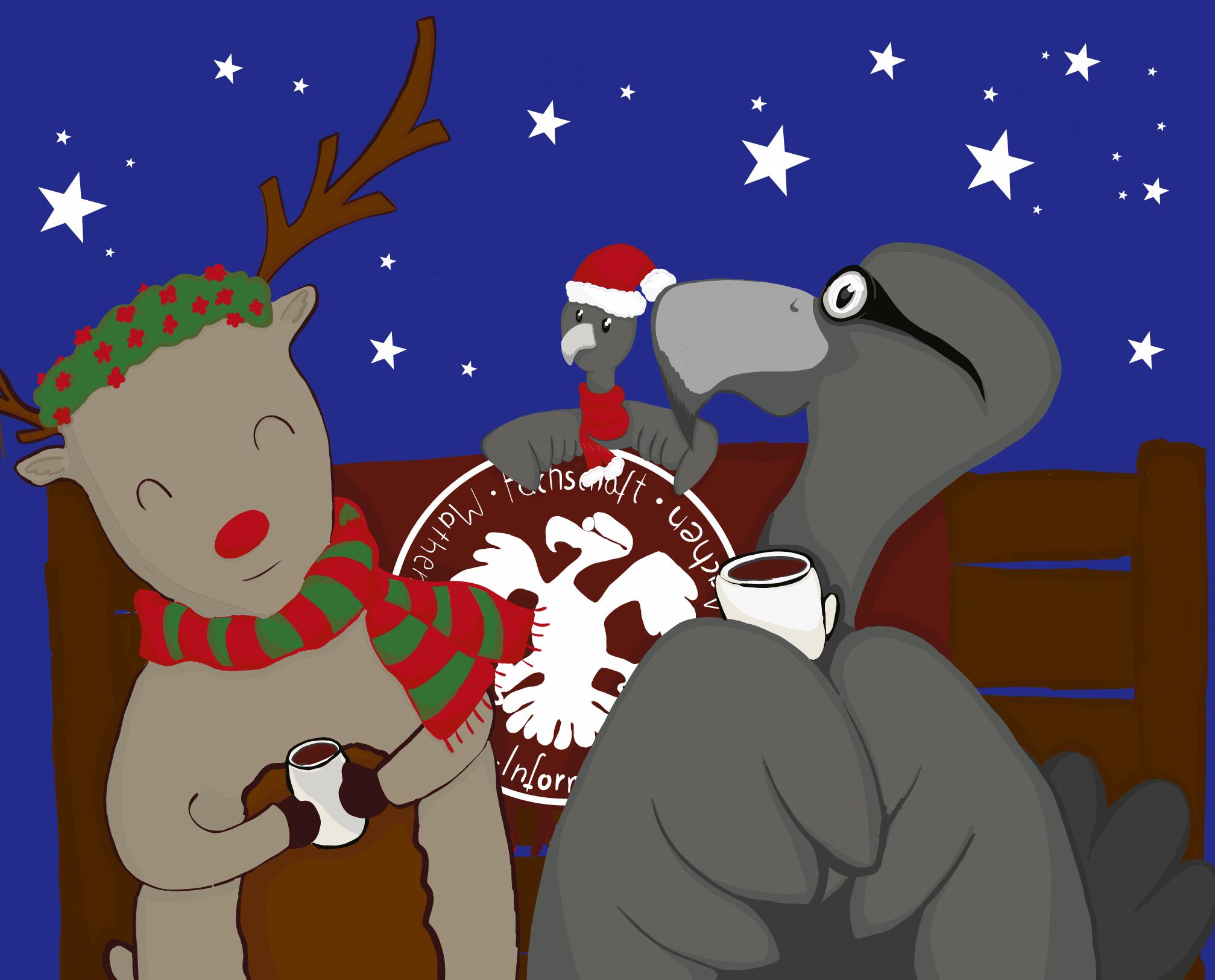 Ein weihnachtlicher Geier